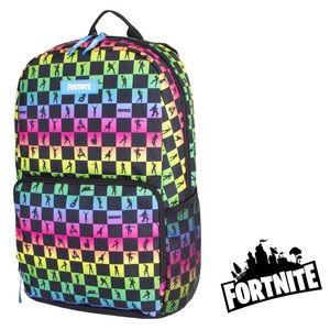 NWT FORTNITE Rainbow Amplify Backpack Laptop Bag